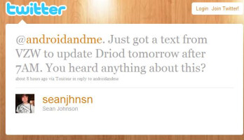 UPDATED: Motorola DROID update coming tomorrow? NOT