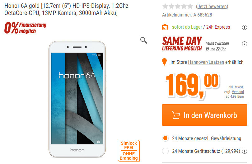Honor 6A mid-ranger with Android Nougat launched in Europe for €169