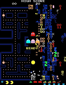 Pac-Man Kill Screen, Level 256 (Image by Wikipedia)