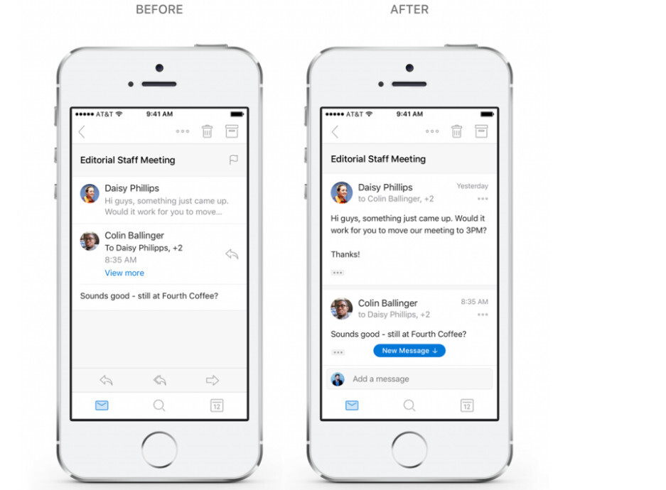 Conversations - email that's fast and interactive - Microsoft overhauls navigation, conversations and search in Outlook for Android and iOS