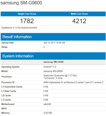 Samsung SM-G9600 spotted in benchmark with Qualcomm Snapdragon 840 CPU
