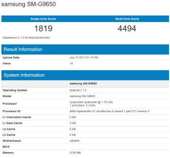 Another Samsung phone is spotted on Geekbench, possibly a lite version of the Galaxy S8+