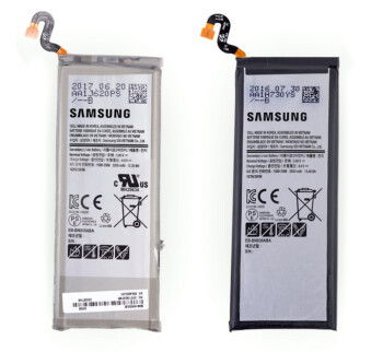 The new and old batteries are pretty much similar in size, but the smaller performed better at risk tests. Image credits to iFixit.