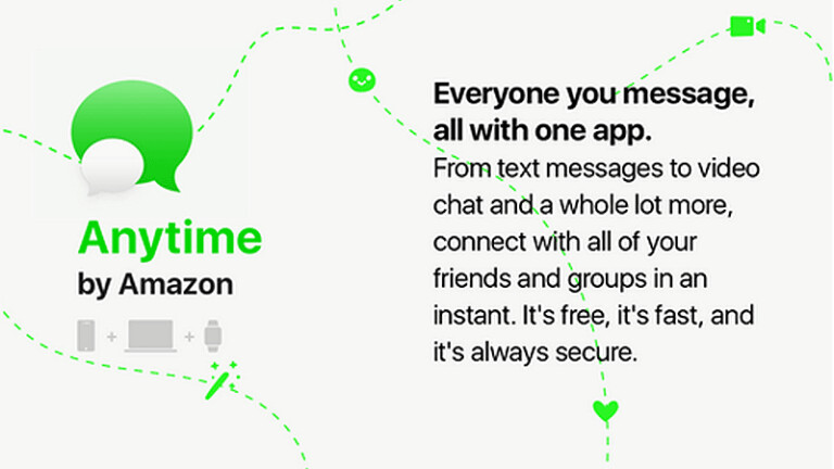 "Is Amazon about to launch a messaging app called Anytime? - ""Anytime"" is Amazon's entry in the messaging app business?"