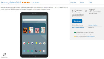 Deal: Get the Samsung Galaxy Tab E for free at AT&T, requires 2-year contract