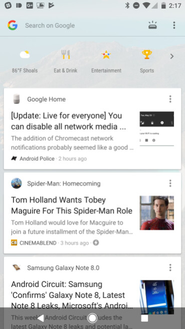 A new Google Now design begins to roll out to some Pixel phones