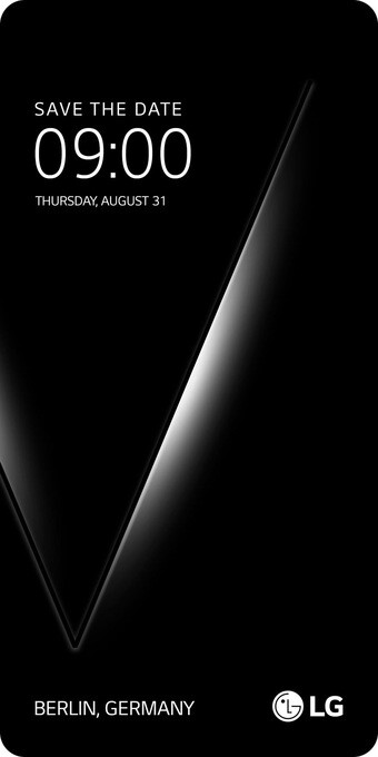 LG's teaser unambiguously hints at a V-series event on August 31