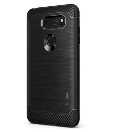 Pair of Rearth Ringke cases that allegedly reveal the back design of the LG V30