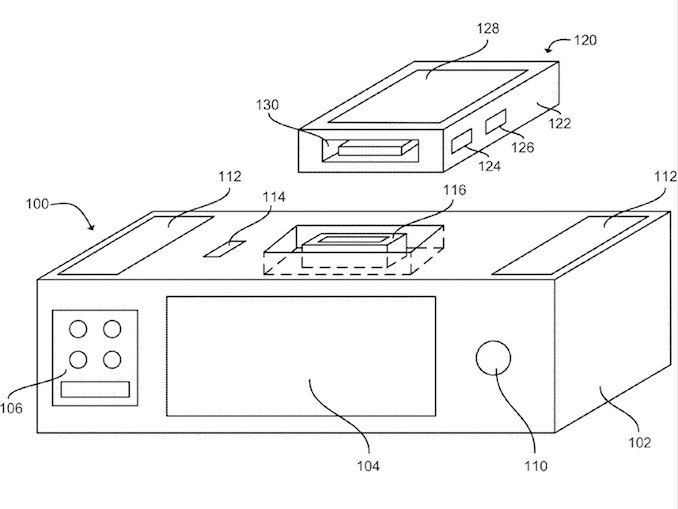 The newly patented dock could feature a dedicated touch display and wireless charing for mobile devices. - Apple received patents for a voice-operated iPhone dock, a new emergency dial method, and more