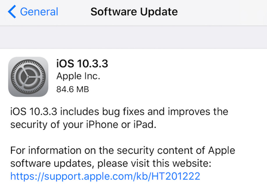 Apple disseminates iOS 10.3.3 - Update to iOS 10.3.3 starts rolling out today