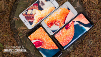 Display brightness and outdoor visibility comparison: Samsung Galaxy S8 vs iPhone 7 vs LG G6 vs Google Pixel vs Sony Xperia XZs