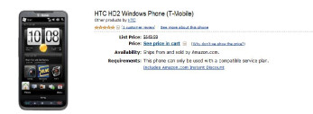 Grab the sizzling hot HTC HD2 for less than a C-Note from Amazon
