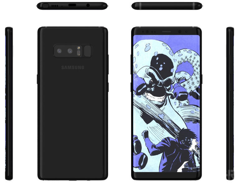 Galaxy Note 8's latest render reveals a terrible fingerprint scanner position