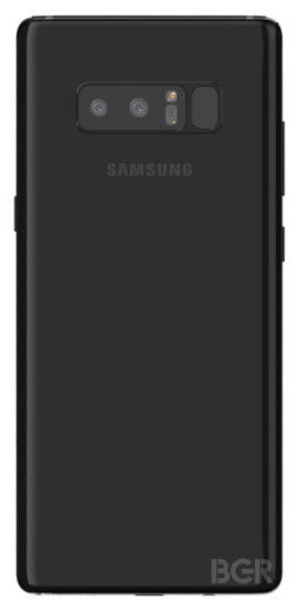 Reaching that fingerprint scanner over there sure won't be easy! - Galaxy Note 8's latest render reveals a terrible fingerprint scanner position