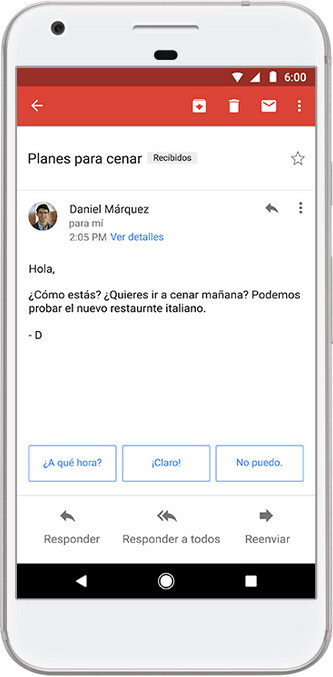 Smart Reply in Spanish is now available for Android and iOS - Smart Replies can now be sent in Spanish from your Android or iOS device