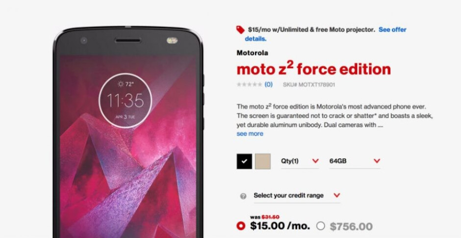 Verizon inadvertently confirms Moto Z2 Force Edition price and availability