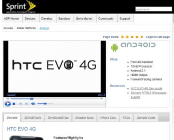 Latest trio of upcoming Android devices are listed on Sprint's developer site