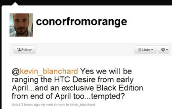 Black Edition of the HTC Desire slated for Orange UK