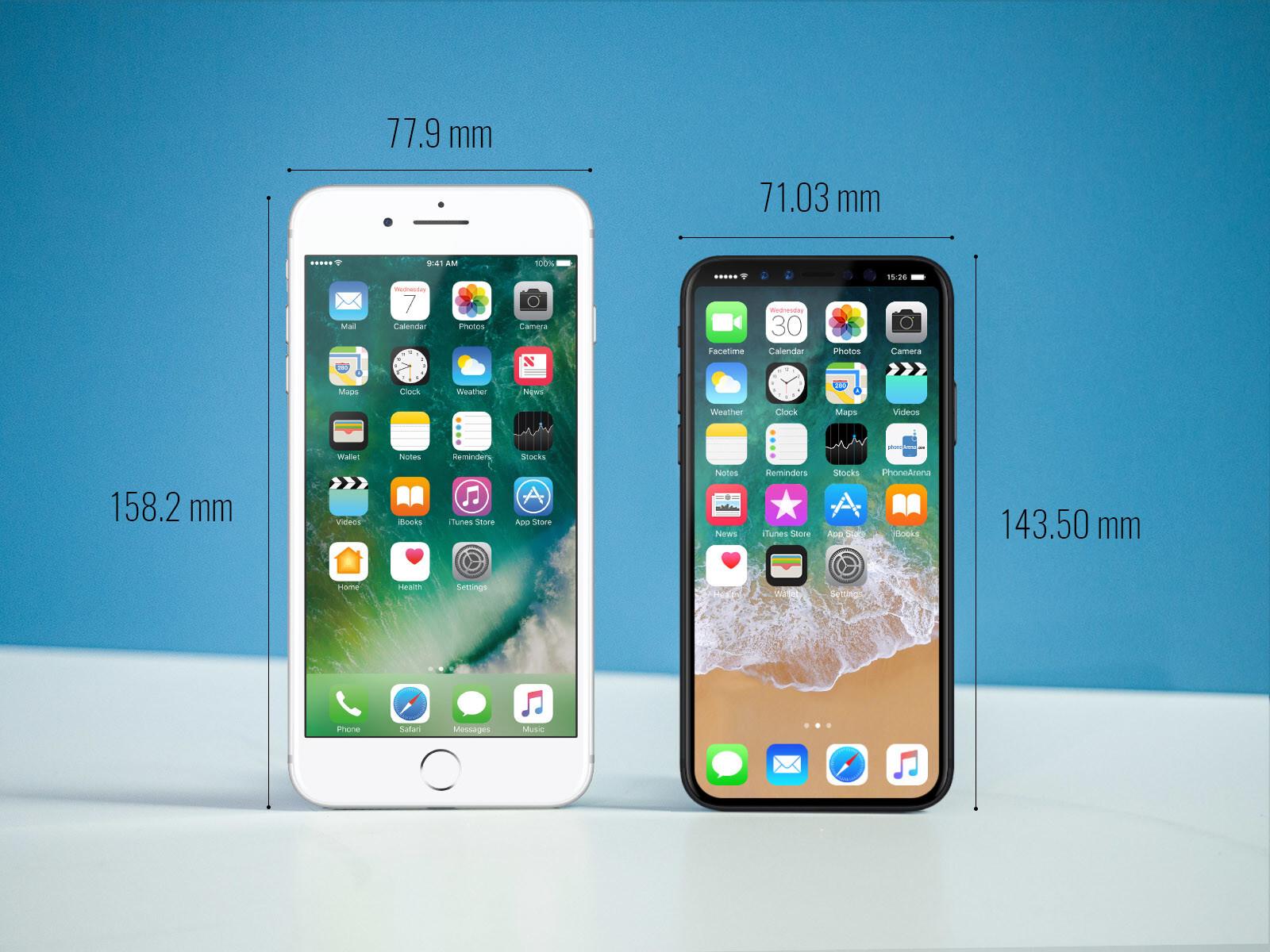 iPhone 8 dimensions and size comparison vs iPhone 7 ... Iphone 5 6 7 Size Comparison