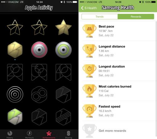 Apple achievements vs Samsung achievements