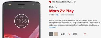 Deal: Get the Moto Z2 Play for just $5 per month at Verizon ($288 off)
