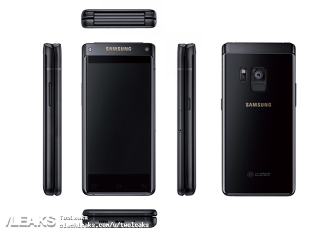 First press render of Samsung's high-end flip phone (SM-W2018) leaked out