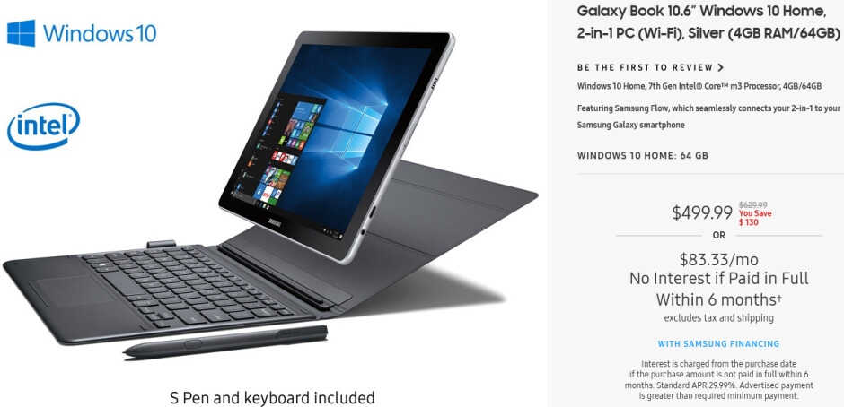 Deal: Get a Samsung Galaxy Book 10.6 for just $499