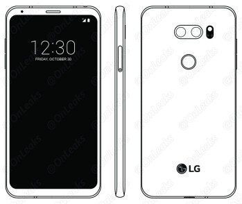LG V30 as reportedly seen in the phone's manual