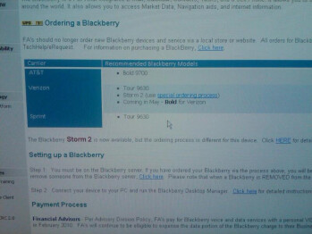 Screenshot reveals that the BlackBerry Bold is coming to Verizon in May?