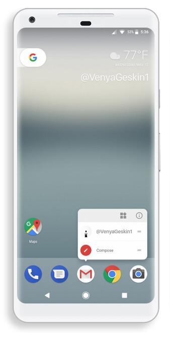 Bezel-busting Google Pixel 2 render by Benjamin Geskin