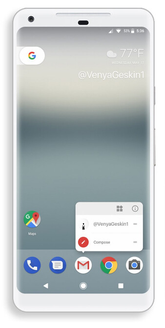 Bezel-busting Google Pixel 2 render by Benjamin Geskin - It's probably wise to hold off on a smartphone purchase right now