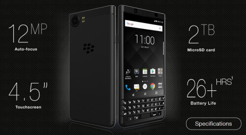 Black Edition BlackBerry KEYone is official in India with 4GB of RAM