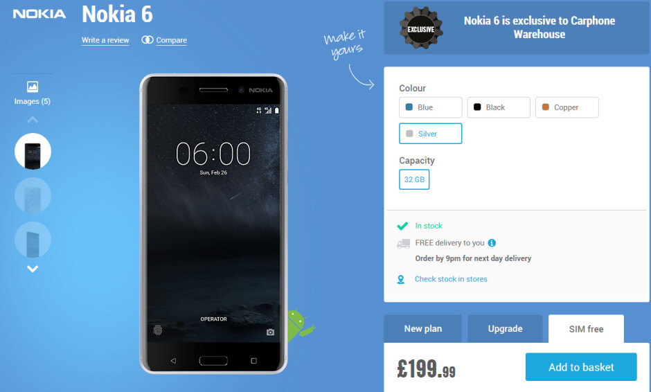 Nokia 6 finally hits the shelves in the UK, costs less than expected