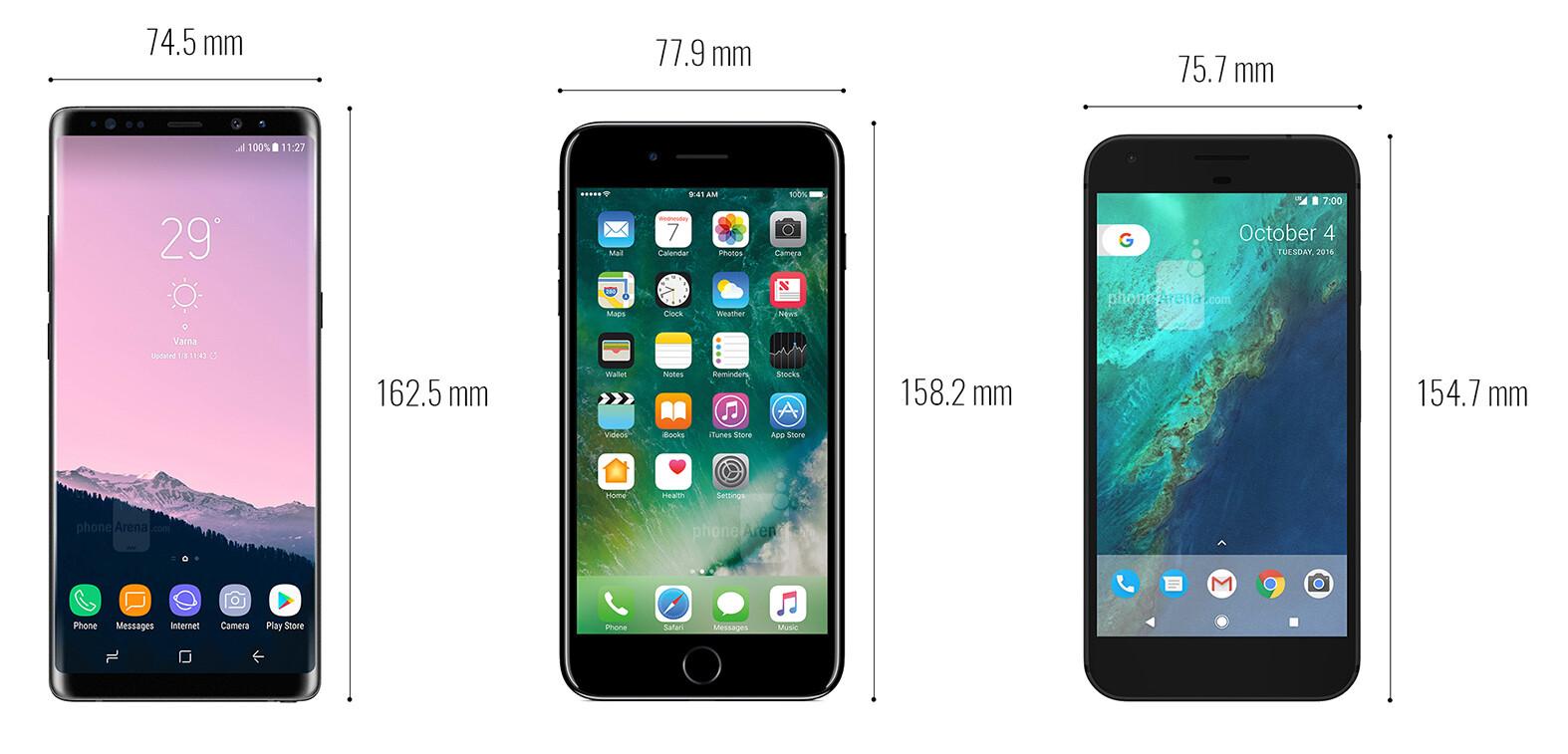 Apple IPhone 7 Plus Vs 8 Size Comparison