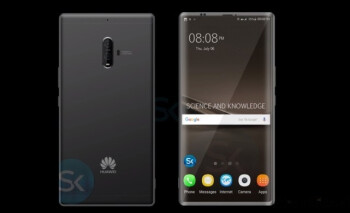 This Mate 10 concept image depicts the EntireView display that Huawei trademarked recently
