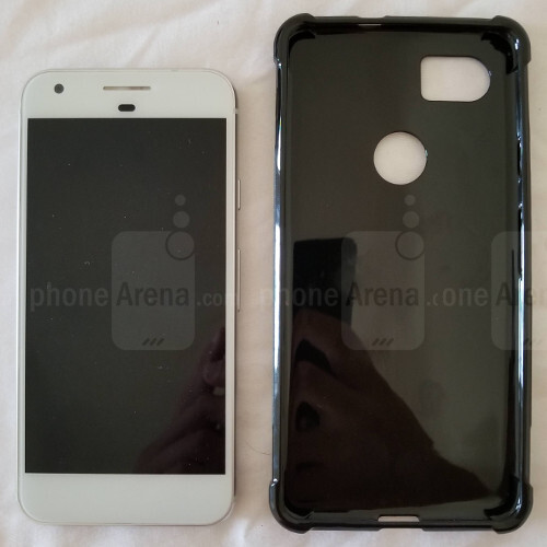 Alleged Pixel XL 2 case compared to original Pixel and Galaxy S8 – yeah, it's big