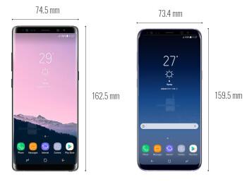 Galaxy Note 8 vs S8+