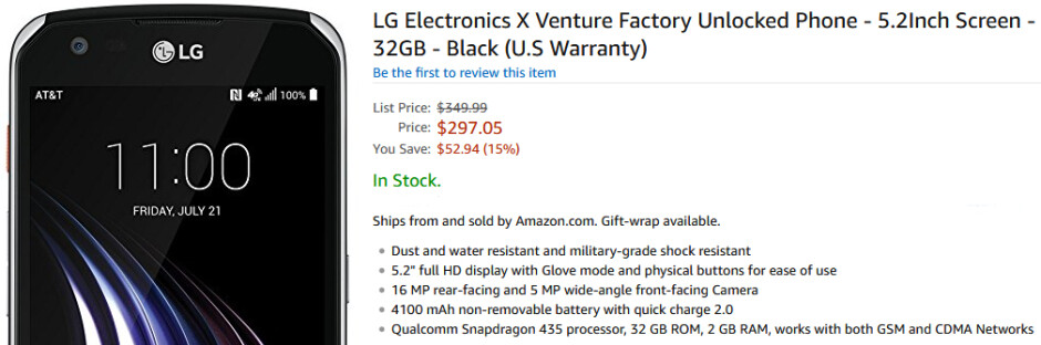 Rugged LG X Venture now available to buy unlocked in the US, works on all carriers