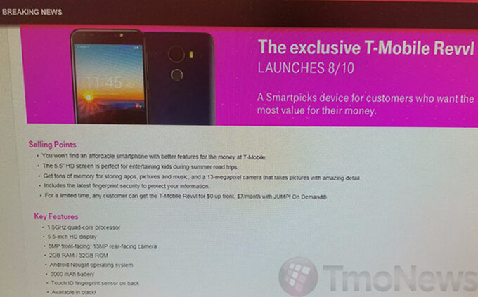 T-Mobile to launch its own REVVL T1 budget-friendly smartphone on August 10