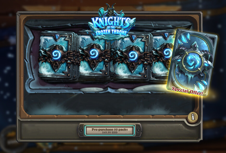 Frostmourne card back - Blizzard to launch new Hearthstone: Knights of the Frozen Throne expansion on August 10