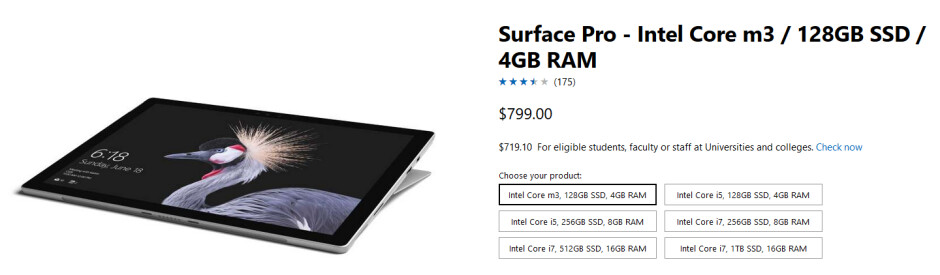 Save $70 on the Back to School purchase of this select Surface Pro tablet from Microsoft - Go back to school spending $80 less on a select version of the Microsoft Surface Pro