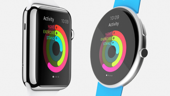 Artistic mock-up of a round Apple Watch alongside the current form factor - Apple Watch Series 3 could feature brand new form factor, coming along with new iPhones