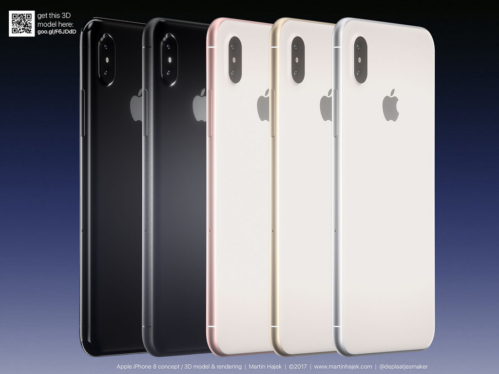 New IPhone 8 Concept Images By Hajek Envision Jet Black And Rose Gold Side Bands