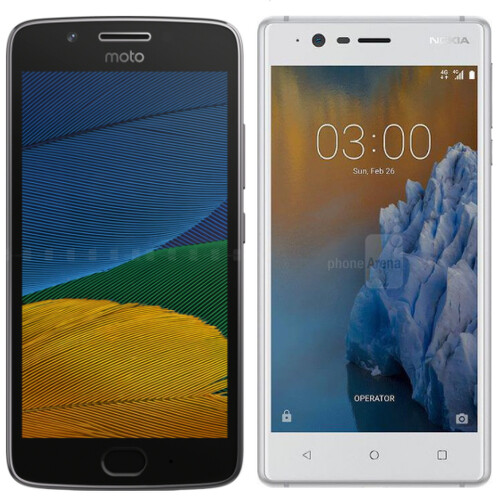 Battle of the budget champions: Moto G5 or Nokia 3?