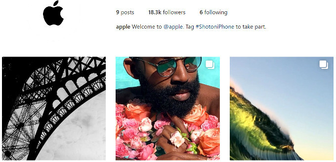 Apple joins Instagram, can you guess the handle?