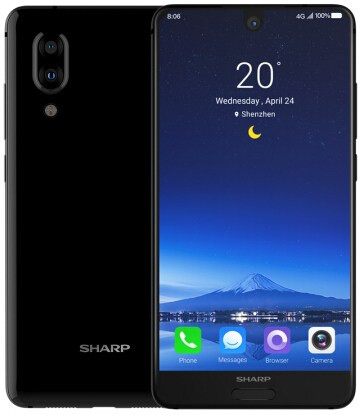 Tapered glass for the back - Sharp Aquos S2 is official with vertical dual camera and compact 'tri-bezel' design