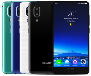The new Sharp Aquos S2 eschews bezels from three sides