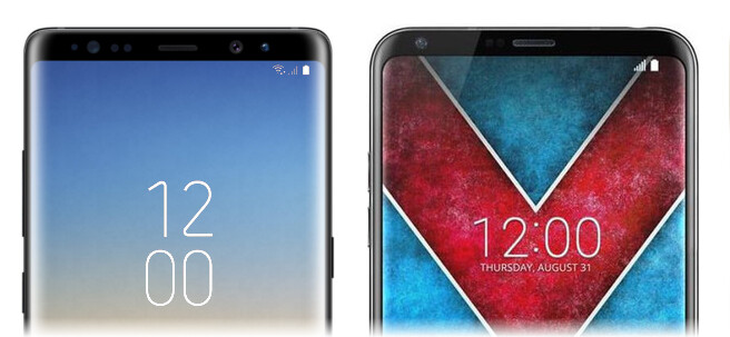 Galaxy Note 8 vs LG V30: the differences and similarities