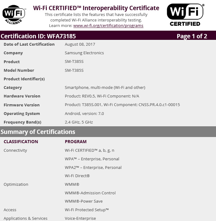 New version of the Samsung Galaxy Tab E 8.0 receives its Wi-Fi certification - Unannounced version of Samsung Galaxy Tab E 8.0 receives Wi-Fi certification