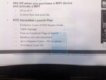 Documents confirm BestBuy's April 29th launch of the HTC Incredible